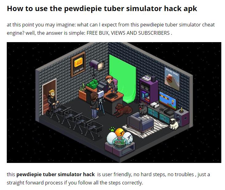 pewdiepie's tuber simulator hack