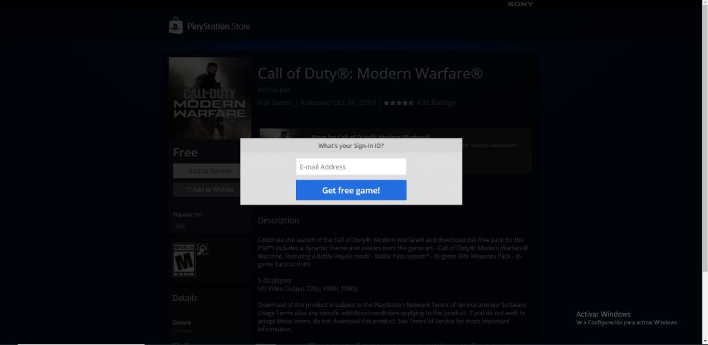 call of duty modern warfare Redeem Code generator